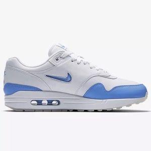 Nike AIR MAX 1 JEWEL PREMIUM Carolina Blue NWT